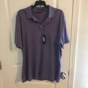 Purple Ralph Lauren Collared Polo Shirt. Sz Large